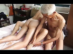 Three men and a creampie