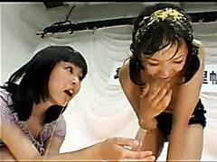 Sweet Anna Kuramoto vomiting and eating a puke