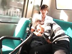 Asia teen boy used in public bus