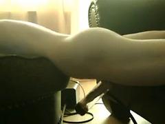 Nasty guy bangs a pumping machine