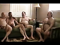 Nice group male sex of four lusty daddies