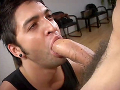 Amazing fags are having oral and butt sex