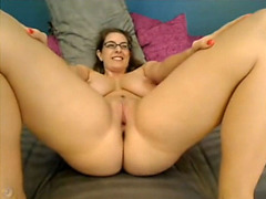 Ravishing wife shows bottom burp