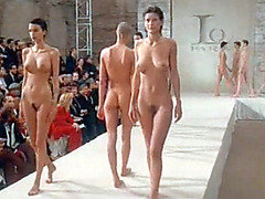 Naked fashion show with a lot of famous babes