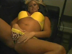 Blonde amateur goes black for her hubby