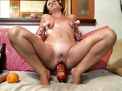 Slut anal fisting and dildo