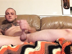 He shows and rubs his asshole
