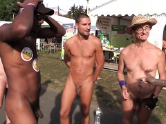 HOT FRENCH NUDIST BOY AT EVENT