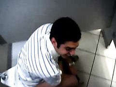 Guy caught in stall shitting