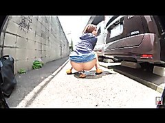 Japanese girl pooping outdoors - part 1