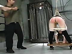 Hard punishment for sweet Japanese girl