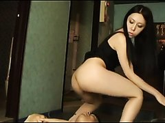 Asian scat trio with a lucky slave man