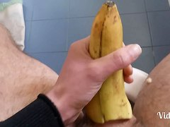 Fuck a banana - handjob with a banana