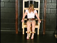 Desperation pee while tied to a chair