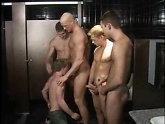 Club Bathroom Threesome turns into a Party