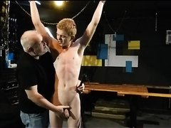 BDSM Woodys first time punished whipped