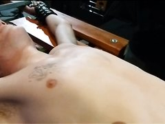 BDSM Woody Racked pt. 2 blindfolded nipple torture