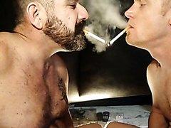 2 Daddies Smoking Together