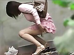 outdoors pissing accidents 004 (desperate girl peeing in panties outdoors)