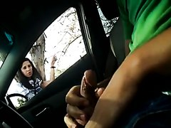 Car flashing, talking and cum