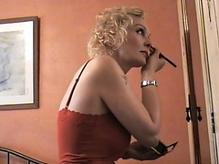 Mature blonde laid by younger cock