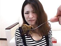 Girl eats, then poops - part 2