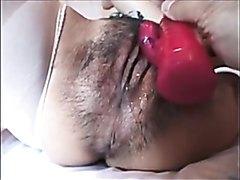 Hairy Asian pussy gets fucked hard