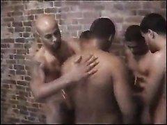 Strange little video with nice naked men and circke jerk