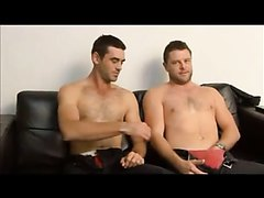 Two hot guys shower and have fun