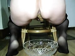 Mature BBW Poops From A Chair