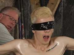 BDSM pain loved boy tied up whipped