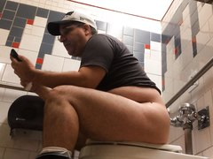 Older guys taking dumps .