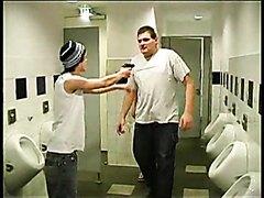 Thugs Attack Man in Public Bathroom