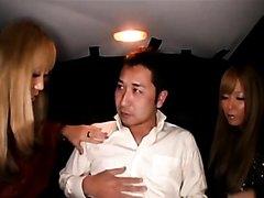 """[Handjob] From""""Two black gal Osaka - Tokyo drives"""" (1/2)"""