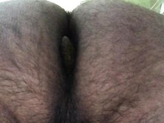 Hairy Ass Shitting