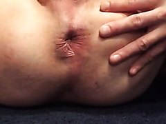 Dude's hole pulses while he cums