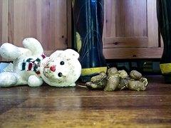 teddy bear stomp under poop