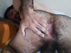 Scruffy hole and wank
