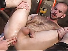 Furry stud gets fisted