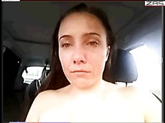 fisting and huge dildos in car with cam bitch