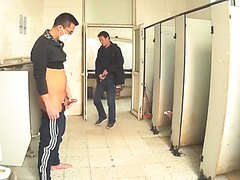 Jerking in public toilet - video 2