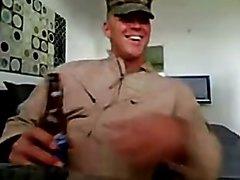 Army Buddies on Webcam