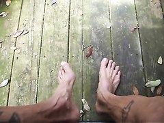 Pissing on my feet