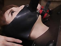 Chained woman became a scat slave for the beautiful lesbian mistress
