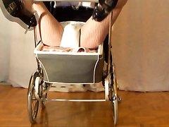 Stroller baby black pram