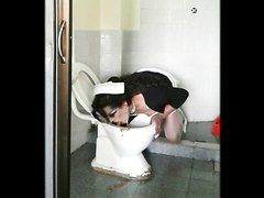 Nurse eating poop toilet