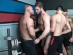 Gym Slut Gang Bang Breeding