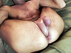 Watch my boyfriend stuffing cock in his own ass