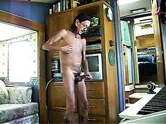 Masturbating while standing