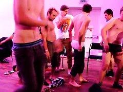 Guys hypnotised into getting nude